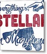 Maryland Poster - Funny Stellar Metal Print
