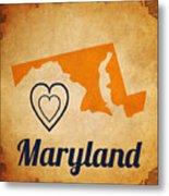 Maryland Vintage Metal Print