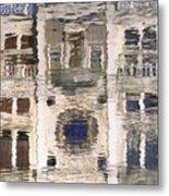 Marzaria Clocktower Reflection Metal Print