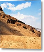 Masada Mountaintop Fortress Metal Print