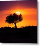 Masai Mara Sunrise Metal Print