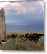 Masaii Cattle Metal Print