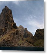 Masca Valley Entrance Panorama Metal Print