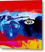 Maserati On The Race Track 1 Metal Print