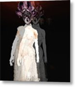 Mask-02 Metal Print by Theda Tammas