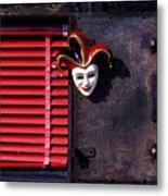 Mask By Window Metal Print