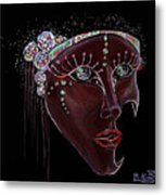 Mask Crystal Metal Print