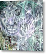Mask Unfolding Metal Print