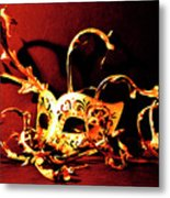 Masked Emotions Metal Print