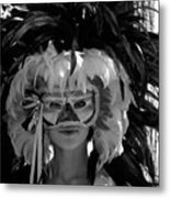 Masked Woman Metal Print
