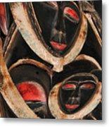 Masks Of Africa Metal Print