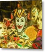 Masks Of Venice Metal Print