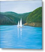 Mason's Sailboat Metal Print