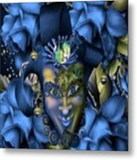 Masquerade Blues Metal Print