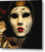 Masques Metal Print