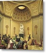 Mass In The Expiatory Chapel Metal Print by Lancelot Theodore Turpin de Crisse