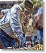 Master Chess Player Metal Print