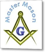 Master Mason In White Metal Print