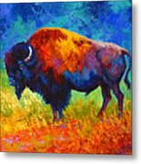 Master Of His Herd Metal Print