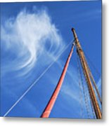 Masts And Clouds Metal Print