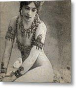Mata Hari Sketch Metal Print