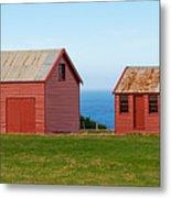Matanaka Historic Site - Red Barn Metal Print