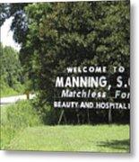 Matchless Manning Metal Print