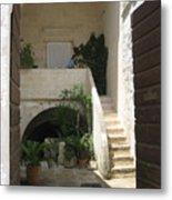 Matera, Italian Courtyard Metal Print