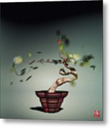 Math Bonsai 1 Metal Print by GuoJun Pan