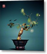 Math Bonsai 3 Metal Print