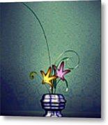 Math Flower 5 Metal Print