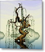 Mathematics Willow Metal Print