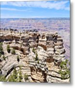 Mather Point At The Grand Canyon Metal Print by Julie Niemela