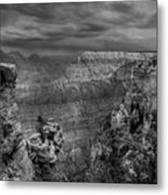 Mather Point B/w Metal Print