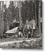 Mathew Brady Wagon Metal Print