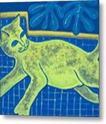 Matisse's Cat In Reverse Metal Print