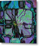 Matrices In Glass Houses Metal Print
