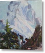 Matterhorn At 8 Pm Metal Print