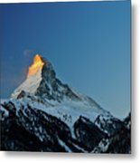 Matterhorn Switzerland Sunrise Metal Print