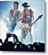 Matthias Jabs And Rudolf Schenker Shredding Metal Print