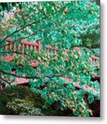 Matthiessen State Park Bridge False Color Infrared No 1 Metal Print