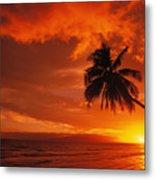 Maui, A Beautiful Sunset Metal Print