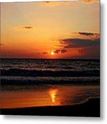 Maui Beach At Sunset Metal Print