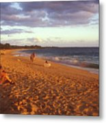 Maui Beach In Evening Metal Print