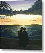 Maui Beach Sunset Metal Print