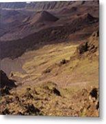 Maui, Haleakala Crater Metal Print
