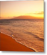 Maui, Hazy Orange Sunset Metal Print