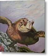 Maui Sea Turtle Metal Print