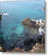 Maui Water And Rocks Metal Print