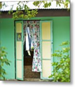 Maupiti Doorway Metal Print